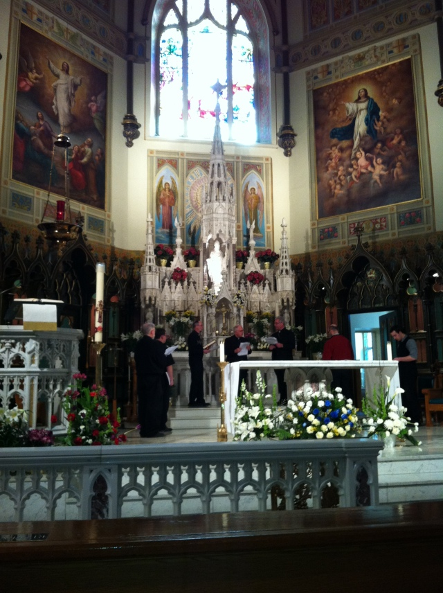 Rehearsal for Anglican Use Liturgy in St. Patrick's Basilica