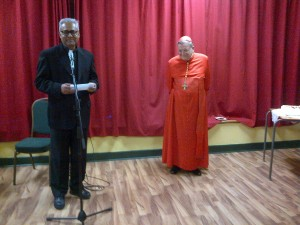 Fr. Vincent Pereira and his canon law mentor Cardinal Raymond Burke after the Mass